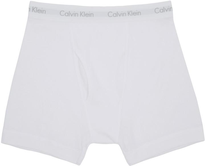 Calvin Klein Underwear White Boxer Briefs Three-Pack