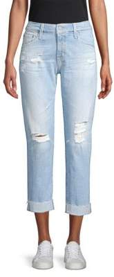 AG Jeans Ex-Boyfriend Distressed Cropped Jeans