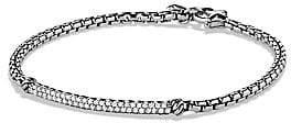 David Yurman Women's Petite Pavé Bar Metro Bracelet with Diamonds