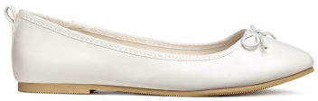 H&M - Ballet Flats - White
