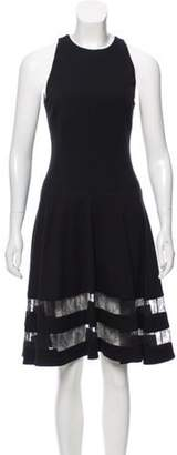 Jason Wu Lace-Accented Sleeveless Dress Black Lace-Accented Sleeveless Dress