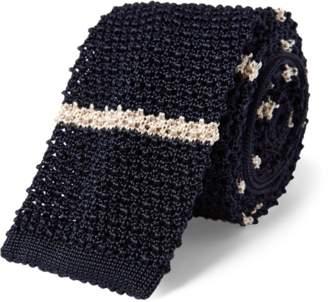 Ralph Lauren Oars Knit Silk Narrow Tie