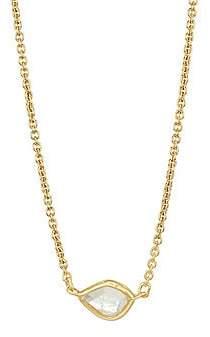 Monica Vinader Women's Siren Mini Nugget 18K Yellow Gold & Moonstone Necklace