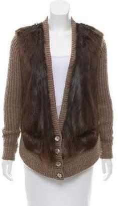 Reed Krakoff Fur Paneled Cardigan