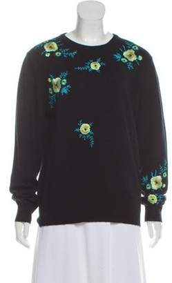 Christopher Kane Embroidered Cashmere Sweater Black Embroidered Cashmere Sweater
