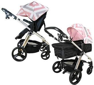 My Babiie MB150 Pink Chevron Pram & Pushchair