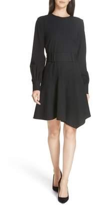 Derek Lam 10 Crosby Belted Asymmetrical Dress