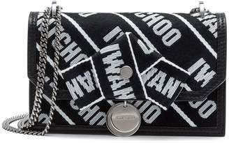 Jimmy Choo Finley Black Logo Cross Body Bag