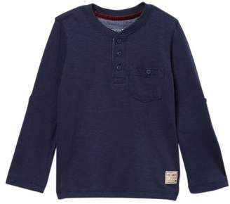 Joe's Jeans Indigo Dyed Long Sleeve Henley Tee (Little Boys)