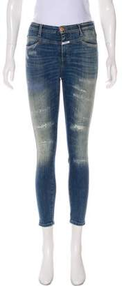 Closed Distressed Mid-Rise Jeans
