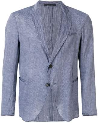 Emporio Armani unstructured striped blazer