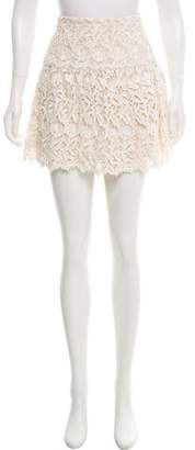 Alice + Olivia Metallic Lace Mini Skirt