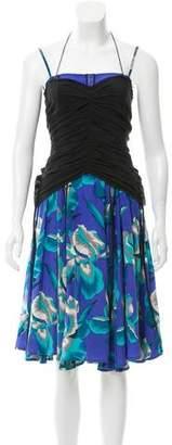 Marc Jacobs Floral Print Flounce Dress