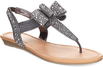 Material Girl Shayleen Flat Thong Sandals, Created for Macy's Women's Shoes