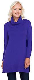 Susan Graver Rayon Nylon Long Sleeve Cowl NeckTunic Sweater