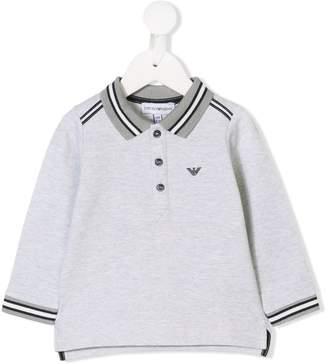 Emporio Armani Kids long-sleeve polo top