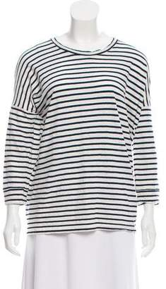 Humanoid Striped Linen-Blend Top