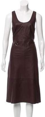Veda Sleeveless Leather Dress