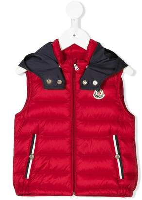 Moncler logo patch padded vest