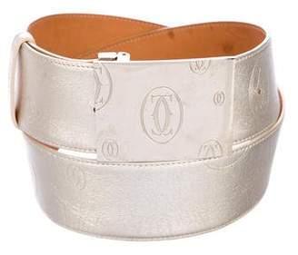 Cartier Metallic Logo Belt