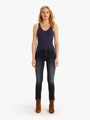 Mother High Waisted Looker Ankle Fray - Last Call