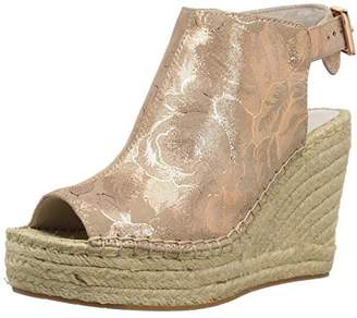Kenneth Cole New York Women's Olivia Espadrille Peep Toe Wedge Sandal with Backstrap