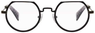 Yohji Yamamoto Black Flat Top Glasses