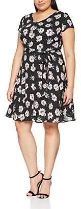 Womens Spot Floral V Neck Party Dress Dorothy Perkins Curve CNWC6