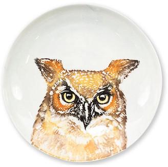 Vietri Into the Woods Owl Pasta Bowl - White