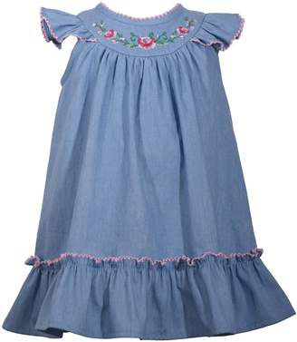 30c48d49345 Bonnie Jean Toddler Girl Embroidered Chambray Dress
