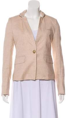 Veronica Beard Long Sleeve Button-Up Blazer