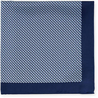 Neiman Marcus Men's Neat Dot-Print Silk Pocket Square