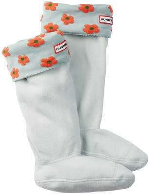 Hunter Tall Floral Cuff Boot Socks