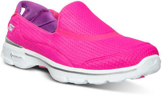 Skechers Women's GOwalk 3 - Unfold Walking Sneakers from Finish Line $59.99 thestylecure.com