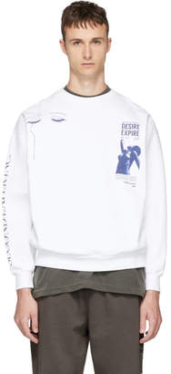 Second/Layer White Some Velvet Sweatshirt