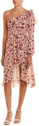 For Love & Lemons One-Shoulder Midi Dress