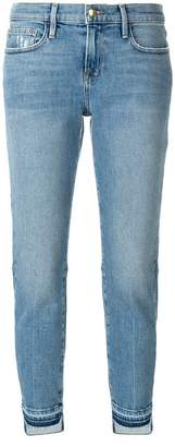 Frame cropped straight jeans