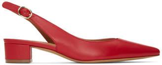 Mansur Gavriel Red Slingback Heels