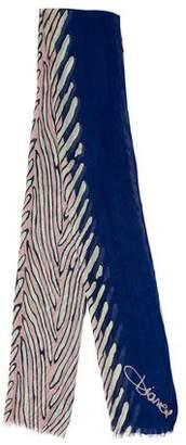 Diane von Furstenberg Logo Print Scarf