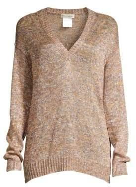 Etro Metallic V-Neck Sweater