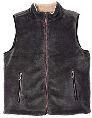 True Grit Men's Pebble Pile Double up Vest Zip Pockets