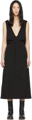 Y's Ys Black L-Flare Jumper Dress