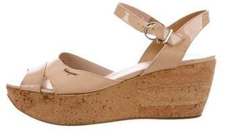 Salvatore Ferragamo Patent Platform Sandals