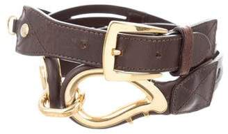 Etro Leather Logo Belt