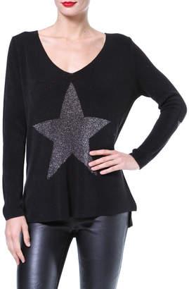 Madonna & Co Metallic Star Front Sweater