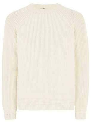 Topman Mens Cream Off White Stitch Sweater