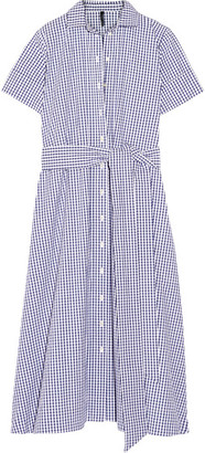 Lisa Marie Fernandez - Gingham Cotton Shirt Dress - Blue $495 thestylecure.com