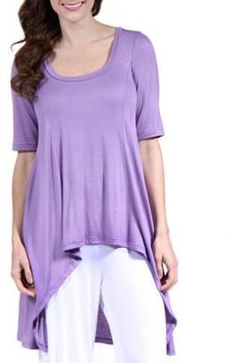 24/7 Comfort Apparel Women's Extra Long Tunic Top