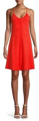 Vero Moda Spaghetti-Strap Cotton Blend A-Line Dress