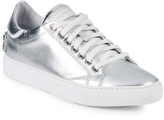 John Galliano Metallic Leather Low-Top Sneaker
